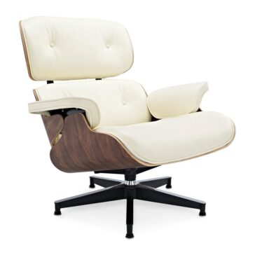 Fotelja ili Lounge chair, krem boja kože, drvo oraha, Inside Studio, slika 02
