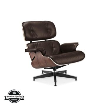 Lounge Chair smeđa koža orah