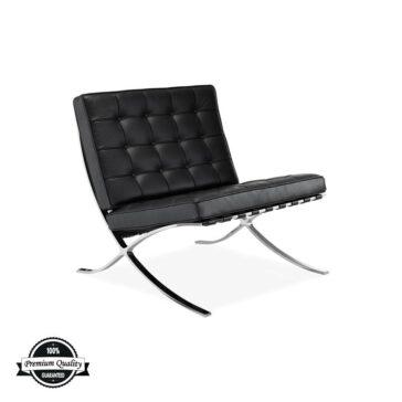 SEVILLE kožna fotelja crne boje