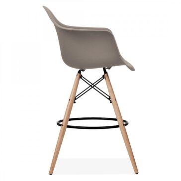 Stolica SRD barska sivo smeđa 3