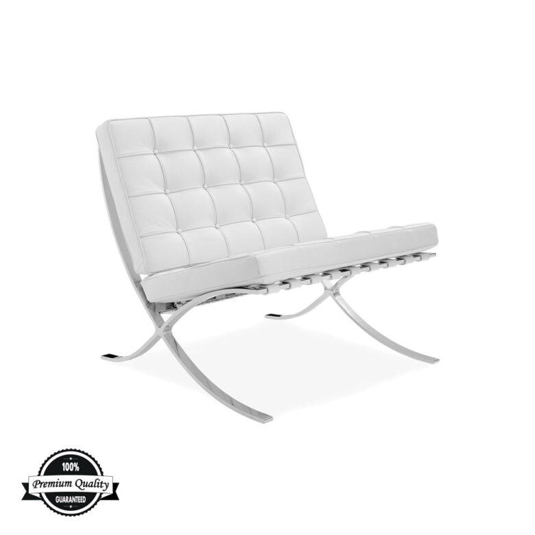 SEVILLE kožna fotelja bijele boje