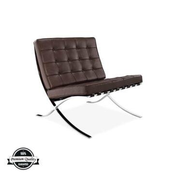 SEVILLE kožna fotelja smeđe boje