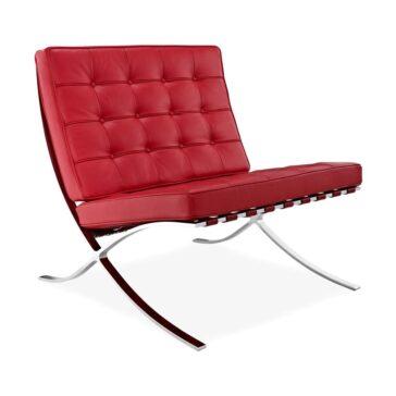 SEVILLE kožna fotelja crvene boje