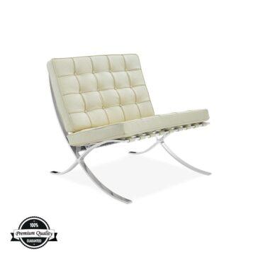 SEVILLE kožna fotelja krem boje