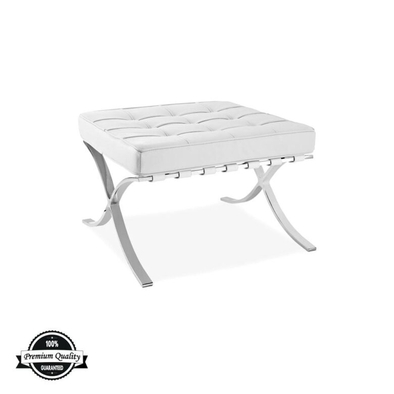 SEVILLE kožni tabure bijele boje 64cm