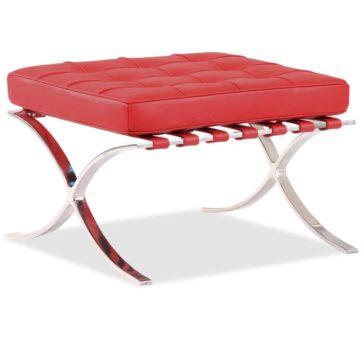 SEVILLE kožni tabure crvena boje 64cm