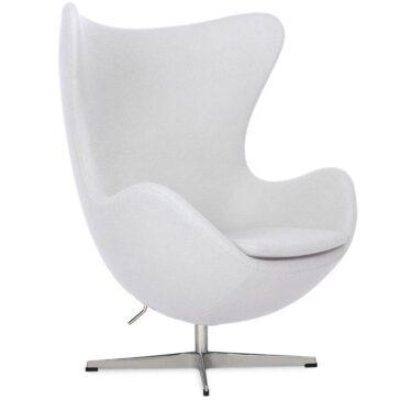 BULB fotelja bijele boje