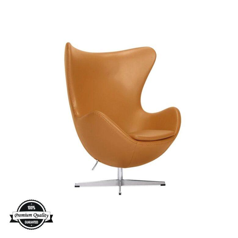 BULB kožna fotelja svijetlo smeđe boje