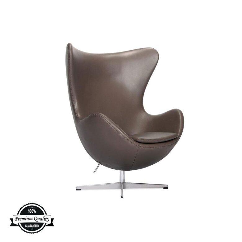 BULB kožna fotelja smeđe boje
