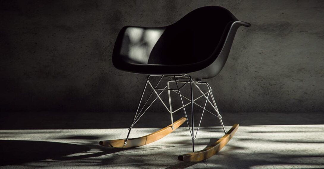 Eames RAR Chair, dizajnerska stolica za ljuljanje